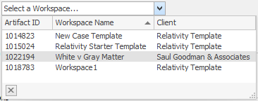Relativity workspaces